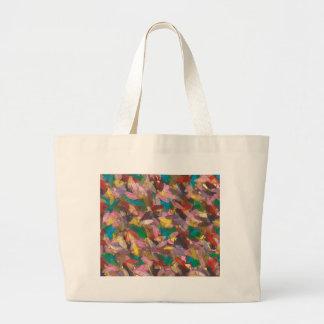 cheerful ellipses canvas bag