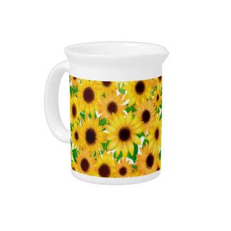 Cheerful European Sunflowers Pitcher