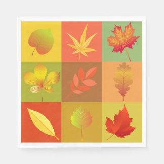 Cheerful Fall Foliage Colorful Buffalo Check Napkin