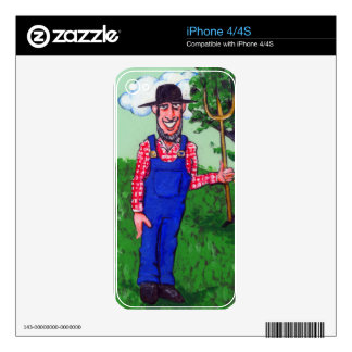 Cheerful Farmer Decals For iPhone 4