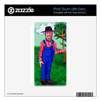 Cheerful Farmer iPod Touch 4G Skin