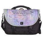 Cheerful, flirtatious Charlotte Bronte quote Laptop Bags