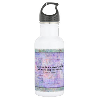 Cheerful, flirtatious Charlotte Bronte quote 18oz Water Bottle