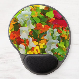 Cheerful Floral Garden Colors Gel Mouse Pad