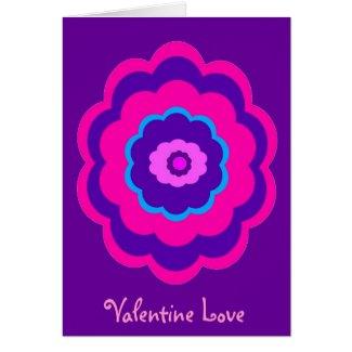 Cheerful Flower Valentine Greeting Card