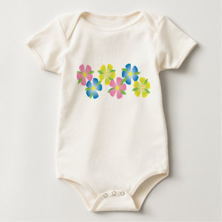 Cheerful Flowers Baby Bodysuit