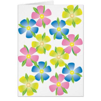 Cheerful Flowers Greeting Card
