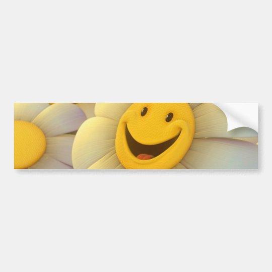 Cheerful Flowers Smile Bumper Sticker