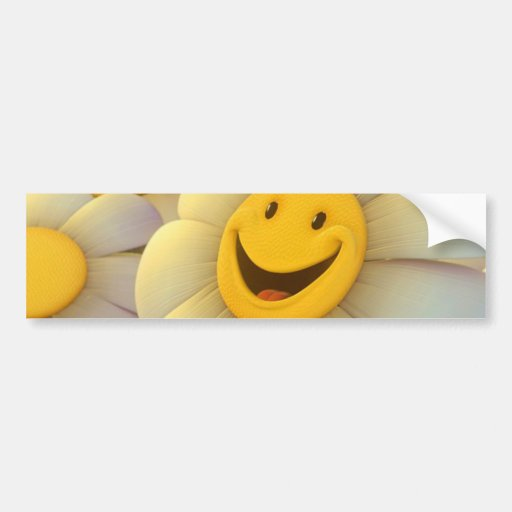 Cheerful Flowers Smile Bumper Stickers