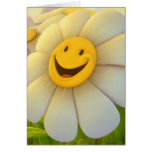 Cheerful Flowers Smile Card