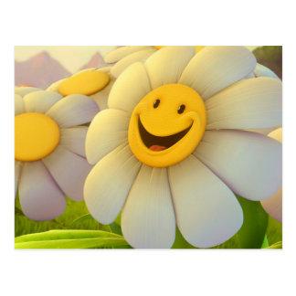 Cheerful Flowers Smile Postcard