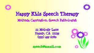 Speech therapy business cards zazzle cheerful flowers speech therapy business card colourmoves