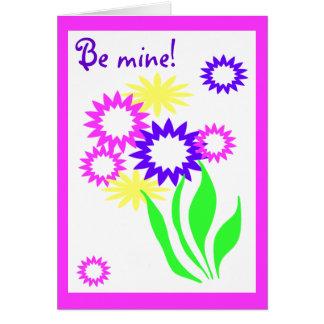 Cheerful Flowers Valentine Card
