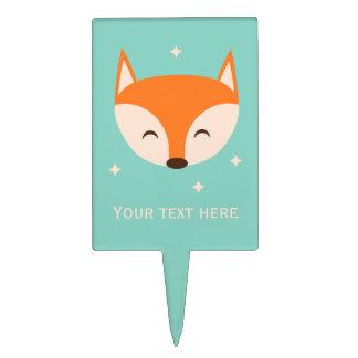 Cheerful Fox Cake Topper