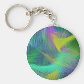 Cheerful Fun Color Abstract Key Chain
