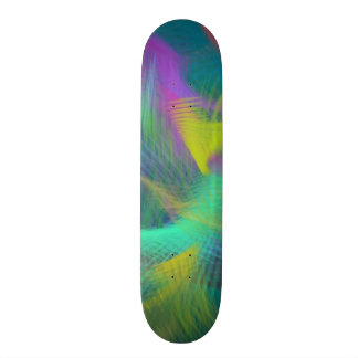 Cheerful Fun Color Abstract Skate Board