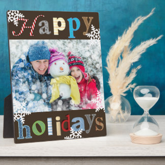 "Cheerful & Fun ""Happy Holidays"" Plaque"
