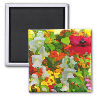 Cheerful Garden Colors 2 Inch Square Magnet