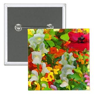 Cheerful Garden Colors Button