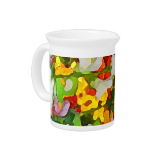 Cheerful Garden Colors Pitcher