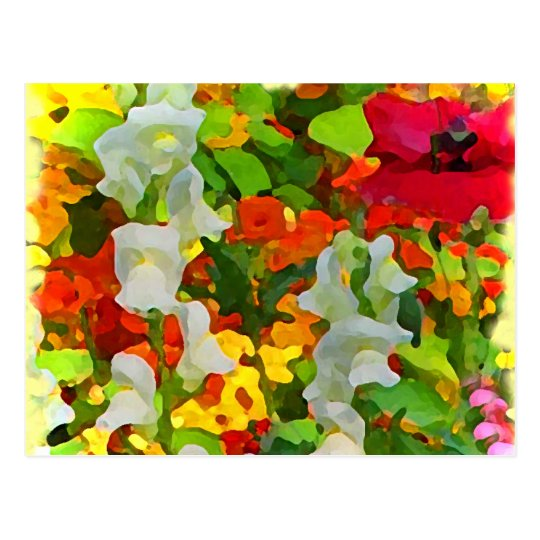 Cheerful Garden Colors Postcard