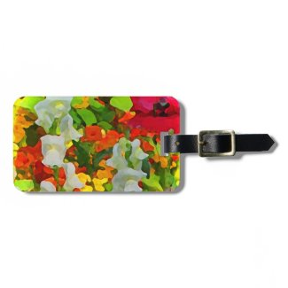 Cheerful Garden Colors Tag For Bags