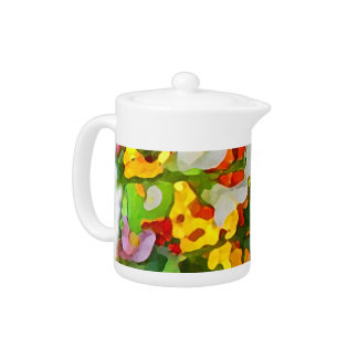 Cheerful Garden Colors Teapot