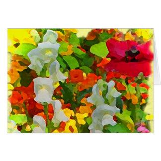 Cheerful Garden Colors Valentine Card