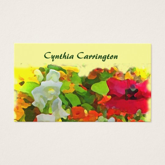 Cheerful Garden Mommy Business Card