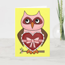 Cheerful Get Well Owl Card
