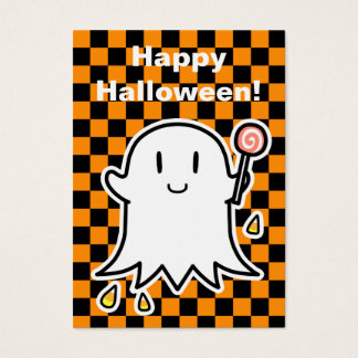 Cheerful Ghost Halloween card (edit your message)
