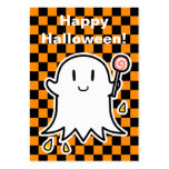 Cheerful Ghost Halloween card (edit your message) Large Business Cards (Pack Of 100)