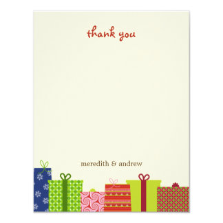 """Cheerful Gifts Thank You Cards 4.25"""" X 5.5"""" Invitation Card"""