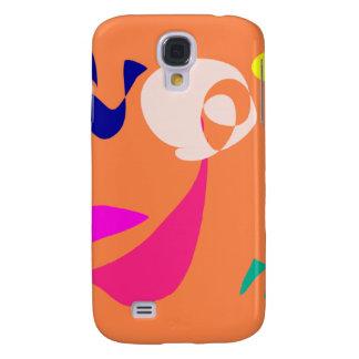 Cheerful Girl Orange Galaxy S4 Case