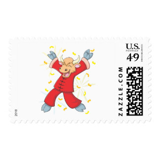Cheerful Happy Ox Postage