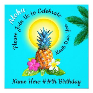Hawaiian Birthday Party Ideas