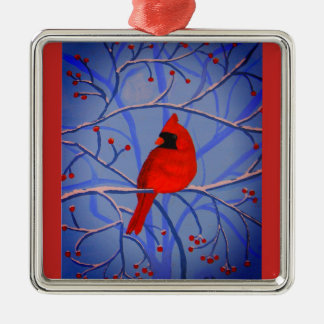 Cheerful heart Cardinal orniment Metal Ornament