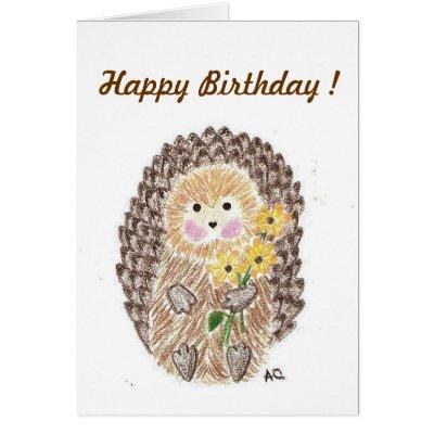 Hedgehog Greeting Card Zazzle