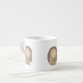 Cheerful hedgehog espresso mug