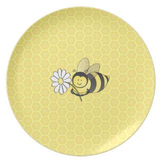 Cheerful Honey Bee Plate