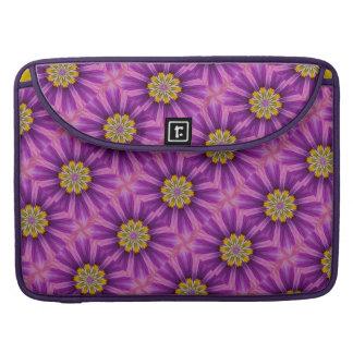 Cheerful Hope Purple Kaleidoscope MacBook Pro Sleeve