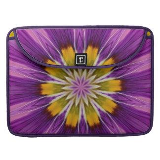 Cheerful Hope Purple Kaleidoscope Sleeves For MacBooks