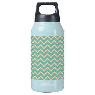 Cheerful Mint Green Zig Zag Pattern Insulated Water Bottle