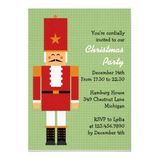 Cheerful Nutcracker Christmas Party 5x7 Paper Invitation Card
