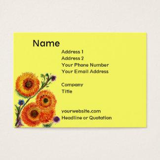 Cheerful Orange Mum Card