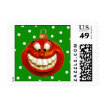 Cheerful Ornament Postage Stamp