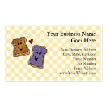 Cheerful Peanut Butter and Jelly Cartoon Friends Business Card Template