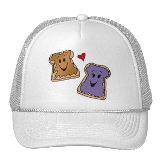 Cheerful Peanut Butter and Jelly Cartoon Friends Trucker Hat