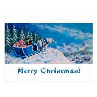 Cheerful Penguin Postcard