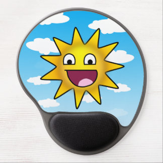 Cheerful picture of sun and clouds gel mouse pad